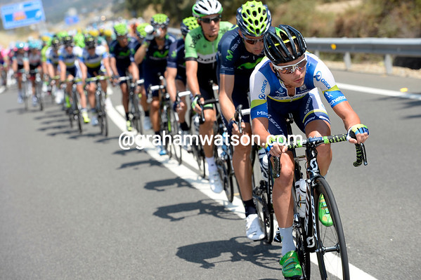 Meier is still doing all the work for Orica-Green Edge and the peloton, but someone has to help soon...