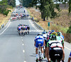 It's a fast start - fast enough to create the first real 'abanicos' of this Vuelta..!