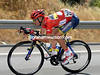 Race-leader Nicholas Roche descends flat-out to re-join his teamates...