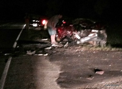 2014 07-13 Wreck in front of Drive Inn on 2920