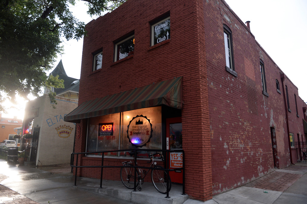 . COLORADO SPRING, CO. - Studio A64, a members only cannabis social club, Friday evening, August 15, 2014. (Photo By Andy Cross / The Denver Post)