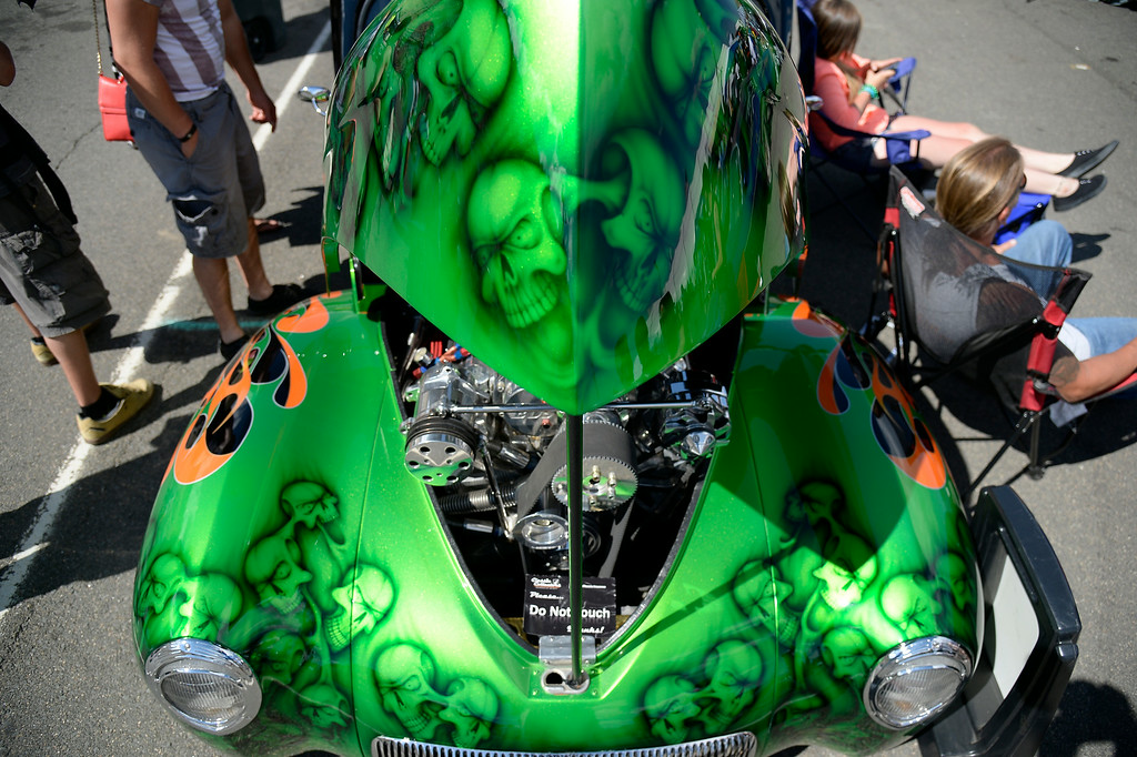 """. A 1941 Willys Coupe was on display as more than 13,000 car enthusiasts attend the 10th annual KBPI Rock N Roll car show August 24, 2014 at Bandimere Speedway. There was also a car bash where $1 to take a sledge hammer to a car benefiting \""""US Warriors Outside\"""" providing wooded veterans the opportunity to enjoy their passion for the outdoors. (Photo by John Leyba/The Denver Post)"""