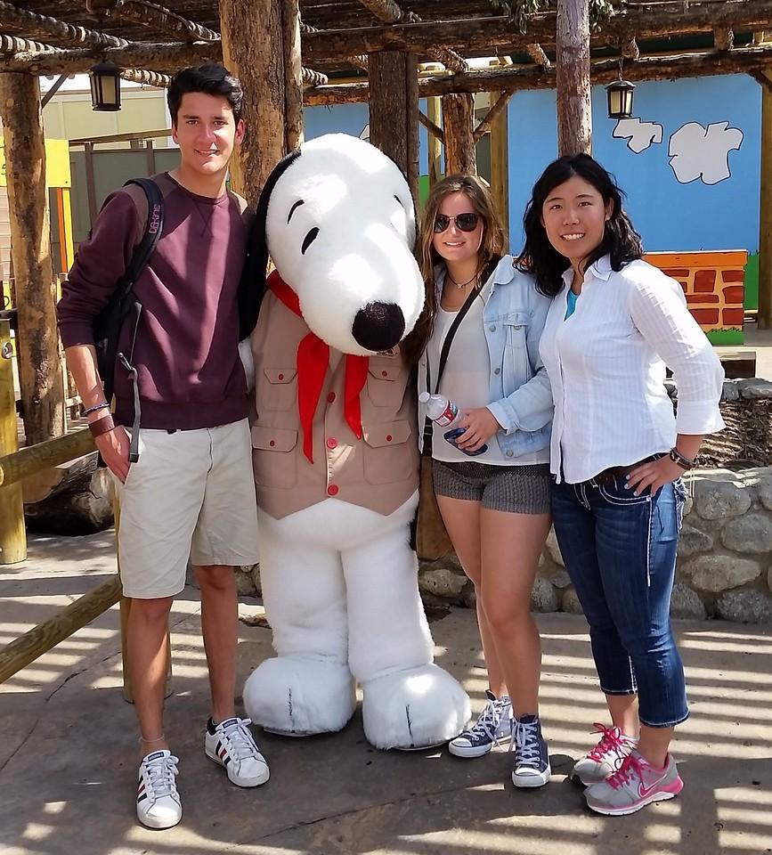 Cedric, Valentina and Rio at Knott's Berry Farm, California