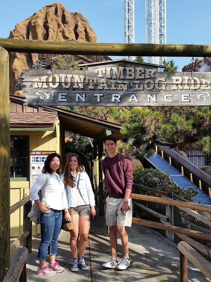 Rio, Valentina and Cedric at Knott's Berry Farm, California