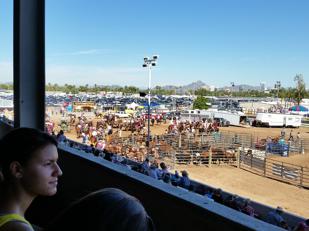 Bianca and Valentina at the High School Rodeo