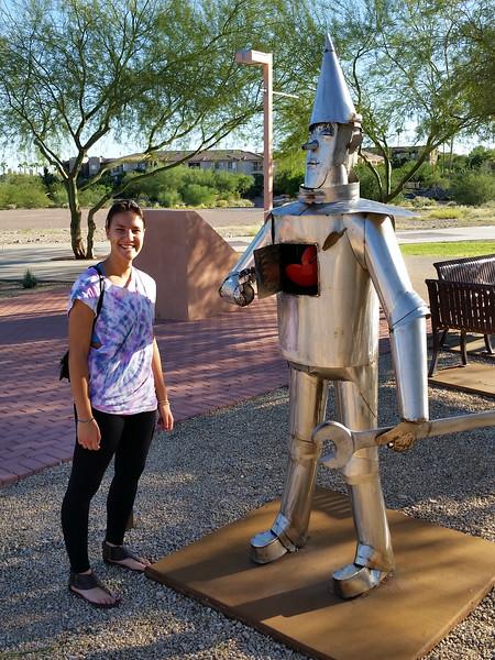 Bianca with the Tin Man