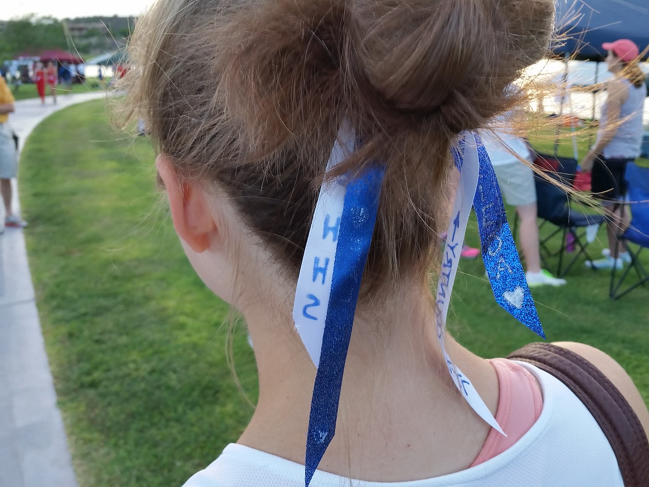 Team hair ribbons created by Frieda and her team