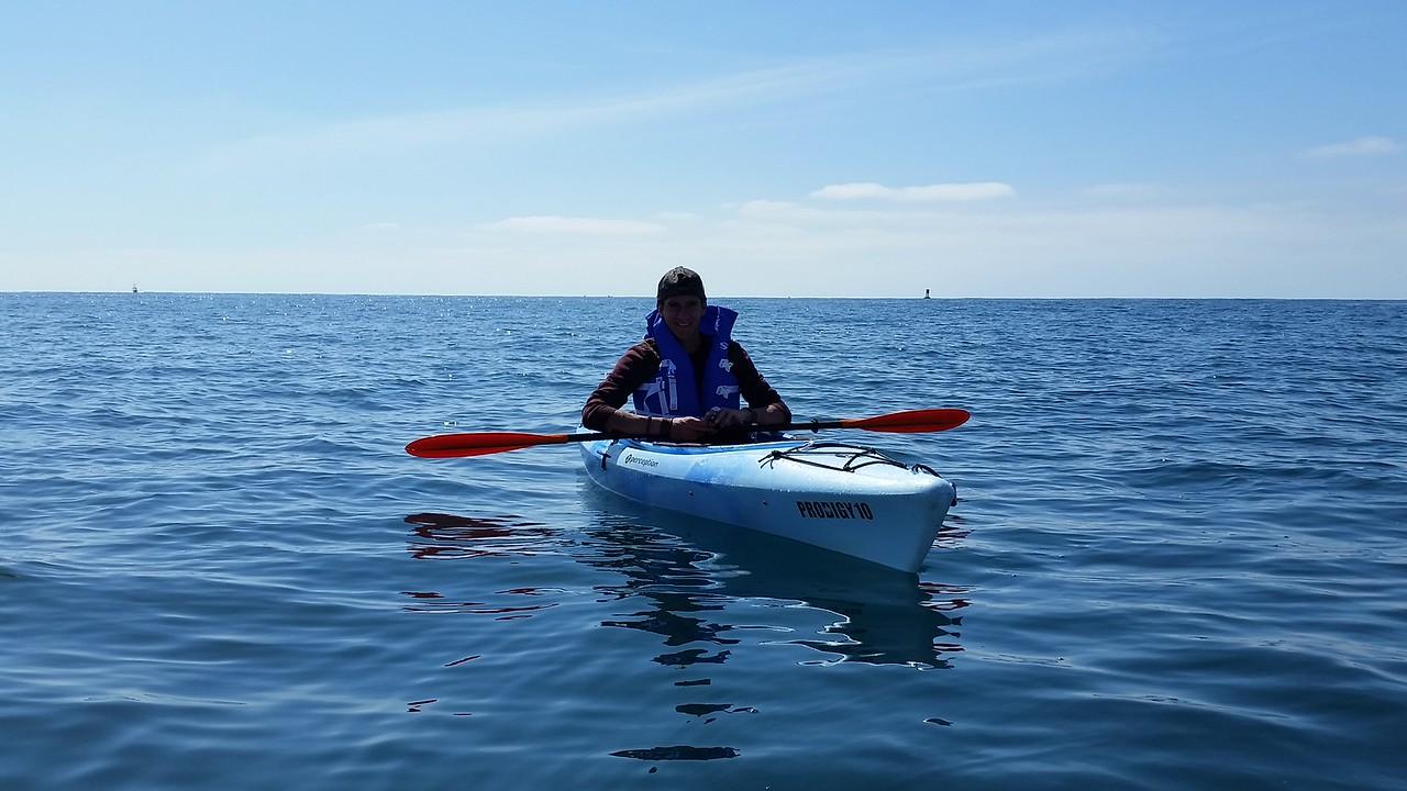 Cedric on the Pacific Ocean