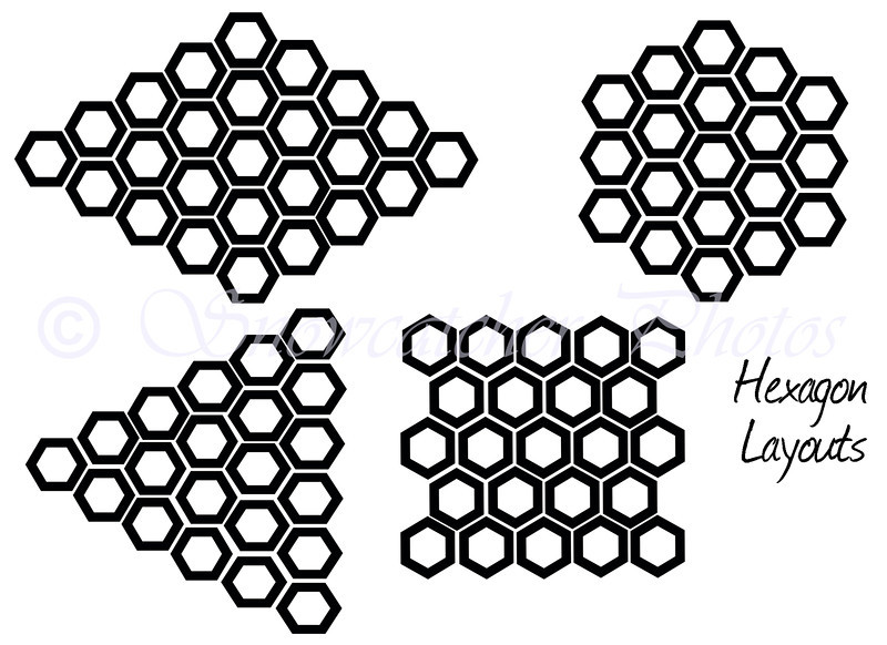 hexagon layout options