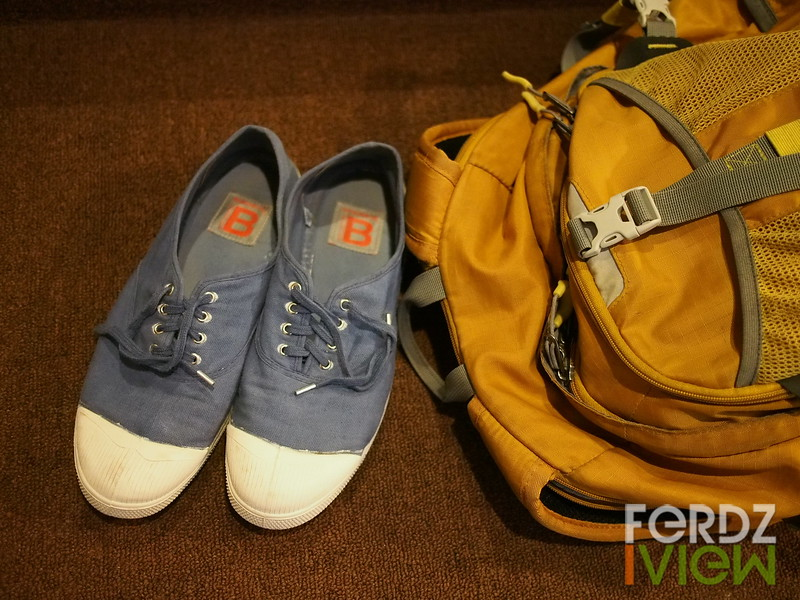 Travelling with Bensimon sneakers