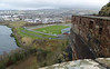Dumbarton FC's Bet Butler ground in the shadow of Dumbarton Rock