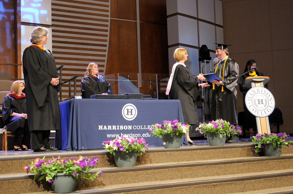 Don Knight | The Herald Bulletin<br /> Harrison College graduation at Madison Park Church of God on Friday.