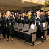 Don Knight | The Herald Bulletin<br /> Students take a moment to thank those who helped them graduate during Harrison College's graduation at Madison Park Church of God on Friday.