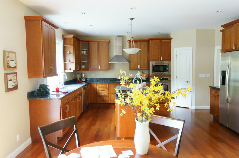View of the kitchen from the family room
