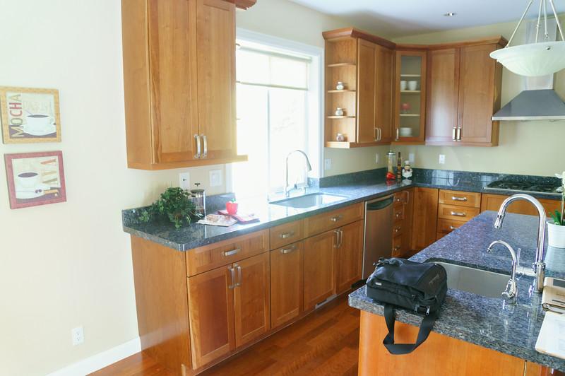 Kitchen, West & North walls