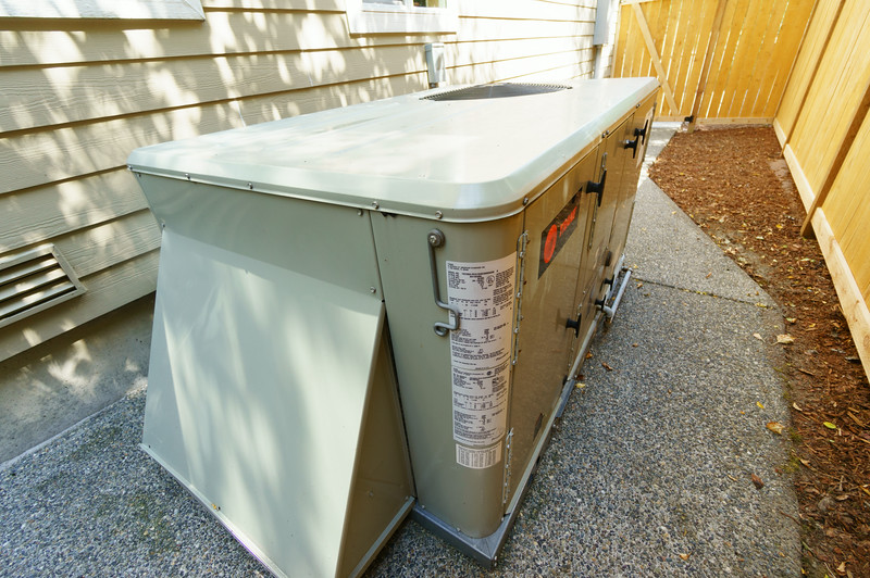 air handling unit on South side of the house.