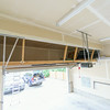 Storage above the garage door opener.