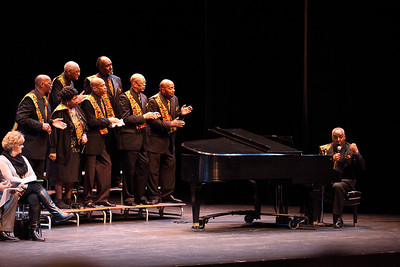 The Friendship Male Chorus of Friendship Baptist Church (Lorain, OH) sing at the Lorain County Alliance of Black School Educators Inc. 30th Annual Academic Achievement Awards at LCCC. photo by Ray Riedel