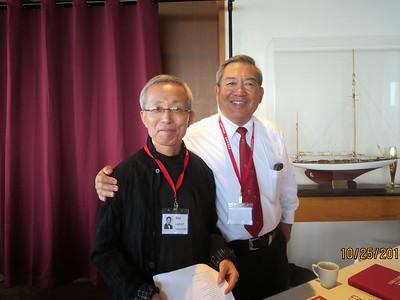 Rex Leghorn Yamamoto on left, Collin Chu on right