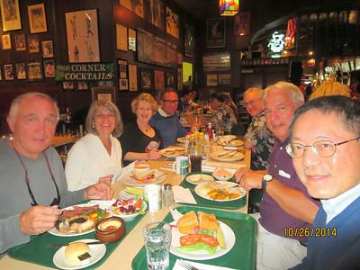 L to R: Rolland (Jim) McIntire & his wife, Gwen Giffing Gibson, Julian Munoz, Kirk Gibson (Gwen's husband), Larry Bingham, Russell Chan
