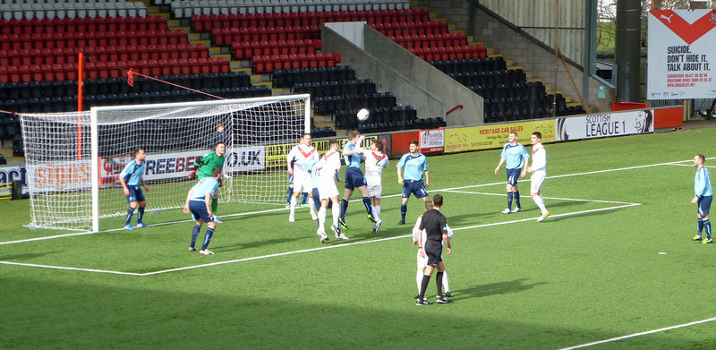 Airdrie v Forfar (5-1) at Excelsior Stadium on 21st March 2014