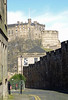 Edinburgh Castle from Grassmarket 21st March 2014