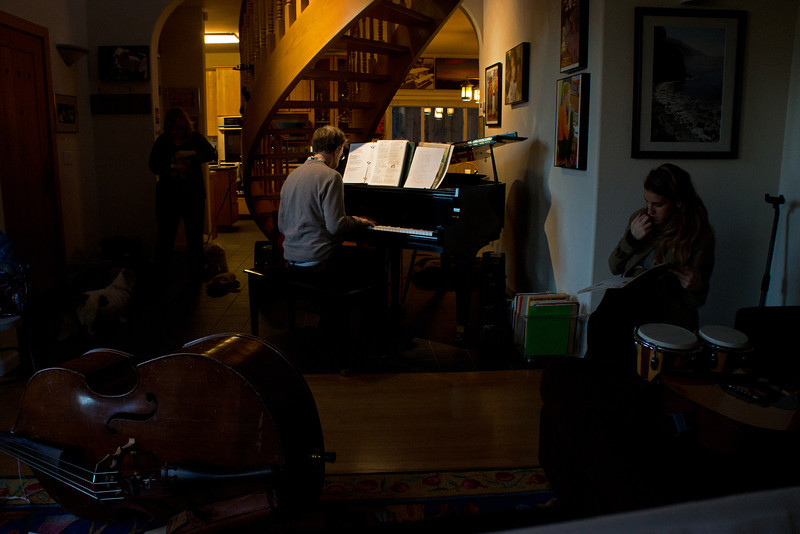 Me at piano during Martin Luther King Day party/jam