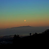 Moonrise over Mount Tamalpais.