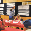 John P. Cleary | The Herald Bulletin<br /> Voting totals go up on the large board election night at Democrat  Headquarters.