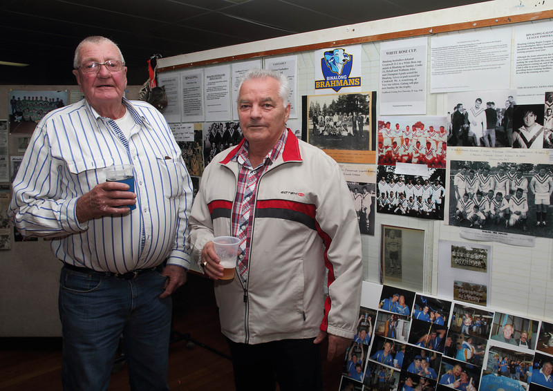 Norm Bourlet (father of the late Greg Bourlet) and Joey Muscat.