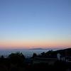 Moonrise: Mt. Tamalpais pokes through the clouds.