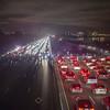Protestors block the 80 Freeway, Dec. 9, 2014. Reuters photo.