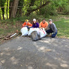 5/4/14: Part of Caroline Zimmerman's cleanup with 3 additional volunteers of Sawmill Branch in Catonsville. 4 Bags of trash, misc. junk and scrap metal. 175 lbs total.