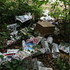 9/2/14: Jon Merryman's cleanup on Ridge Road/Furnace Avenue in A.A. County, Deep Run subwatershed. In addition to Jon's find of carpet and padding, he had gathered up undelivered newspapers; which were left on the corner of Ridge and Furnace Avenue, and recycled them. Estimated weight for these papers is 50 lbs.