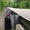 5/24/14: Jon Merryman's cleanup on Furnace Avenue between the Elkridge Furnace Inn and Deep Run, Howard County, Deep Run subwatershed. Found a bag of bottles and cans washed up by the river from the last big rainstorm, and a cinder block. 35 lbs total.