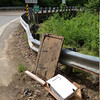 5/24/14: Jon Merryman's cleanup on the corner of Furnace Avenue and Ridge Road in A.A. County, Deep Run subwatershed. Found 2 boxes, a piece of lumber, and a flat panel tv. 50 lbs total.