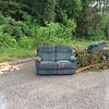 6/11/14: Jon Merryman's cleanup at Hammonds Ferry Park n Ride in Anne Arundel County, Patapsco River watershed. Found a recliner loveseat, a sofa, bags of concrete mix, landscaping stones, and a pile of yard waste (tree branches). 600 lbs total.