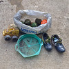 Caroline Zimmerman's photo of a cleanup she did on April 20 and 22. April 20- Sawmill Branch from where the Santee Trail crosses the stream/intersects w/Sawmill Trail up to the end of Patleigh Drive. 15 lbs. Found a little girl's shoes, colander (somebody prospecting?) and toy. April 22 - Sawmill Branch from Frederick Road to the back end of the Catonsville Historical Society property. Found a bag of balls: 5 tennis, 2 field hockey, 2 golf, couple misc. in stream.