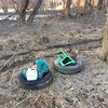 2/1/2014: PVSP at the end of Halethorpe Farm Rd in Baltimore County, between I-895 and the river. Trash piled at a staging area until a truck can be driven through the area to pick it all up and carry it to Halethorpe Farm Rd.