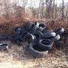 1/19/2014: A part of Jon Merryman's cleanup along Race Rd at Pritchard's Lane in Anne Arundel County. Piney Run watershed. 6 car tires and 38 pickup tires.