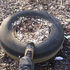 2/1/2014: PVSP at the end of Halethorpe Farm Rd in Baltimore County, between I-895 and the river. Trash piled at a staging area until a truck can be driven through the area to pick it all up and carry it to Halethorpe Farm Rd. This tire was too heavy to move with nothing more than mud to stand on. Is about 50 feet from the nearest pile at the moment.