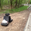 5/3/14: Jon Merryman's cleanup on Ridge Road at Furnace Avenue, A.A. County, Deep Run subwatershed. He found 2 car seats and a bag of trash. 50 lbs.