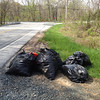 4/28/14: Jon Merryman finds 7 mystery bags of trash at the side of Race Road near Hanover, Howard County, Deep Run subwatershed. Estimated weight is 175 lbs.