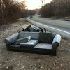1/13/14: Jon Merryman's cleanup on Hammonds Ferry Road in Balto Co at the Patapsco River bridge. He found two sofas, a tv, two truck door interior panels, and a bag of trash. Estimated to be 550 lbs.