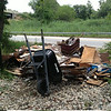 7/22/14: Jon Merryman's cleanup on Hammonds Ferry Road in Baltimore County, Patapsco River watershed. Found 20 wheelbarrows of cardboard, a roll of carpeting and other misc. trash worth an estimated 350 lbs.