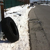 2/16/14: Jon Merryman's cleanup along Hollins Ferry Road, Balt. Co - Herbert Run watershed. Found a tractor trailer tire recently dumped on Hollins Ferry Rd halfway btw Halethorpe Farm Rd and the end. 100 lbs.