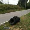 8/22/14: Jon Merryman's cleanup on Old Elkridge Landing Road at the BGE right of way, A.A. County, Stoney Run subwatershed. Found 5 tires - 100 lbs!