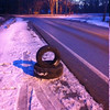 3/4/14: Jon Merryman's cleanup on Race Road, Howard County, Deep Run subwatershed. Found 3 tires ( 2 car tires and 1 small truck tire). Two were found at the intersection of Race and Hanover Road, and one more on the southbound side about 200 yards north of there. 70 lbs.