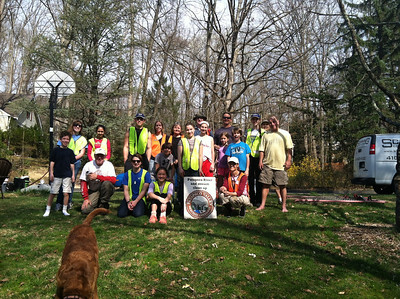 4.13.14 Stream Cleanup along Sawmill Branch off Patleigh Road in Catonsville
