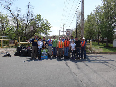 4.26.14 Watershed Cleanup in Herbert Run off Halethorpe Farms Road in Patapsco State Park land
